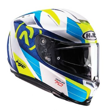 HJC RPHA 70 Lif Blue Motorcycle Motorbike Full Face Sports Touring Helmet - XL